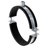 Трубный хомут Fischer FRSM для тяжелых трубопроводов с метрической резьбой (Для всех типов труб Ø от 19 до 508 мм, Присоединительная гайка М10/12, М12/16, М16)