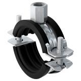 Двухэлементный трубный хомут Fischer FRS Plus с быстродействующим замком (Для монтажа труб диаметром Ø от 12 до 116 мм, Присоединительная гайка М8/10)